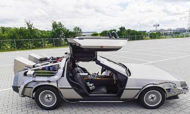 Image result for Speaking about the vehicle, he said he was inspired by the Academy Award-winning film. (Pictured) Bjorn and his vehicle in an abandoned car park in t